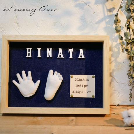 【生後8ヶ月以降のお子様対象】立体手形足形アート『Clover~クローバー~』