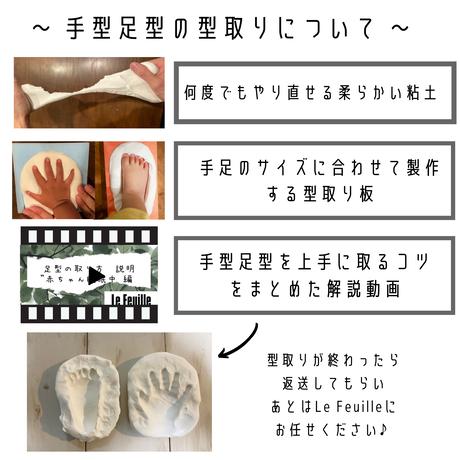 【生後8ヵ月以降のお子様対象】立体手形足形アート『annavel~アナベル~』
