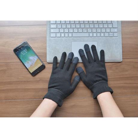 絹100% 手袋(スマートフォン・パソコン対応タイプ)