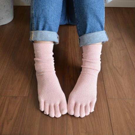 絹五本指ソックス(まわた糸)カラーバージョン 桜ピンク 2足組