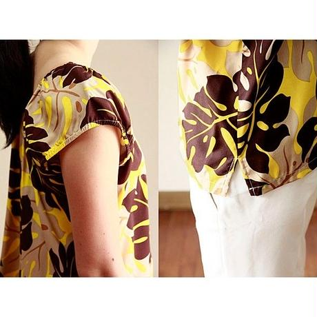 Hawaii Local Design Juliet Blouse HNLS02776-8190