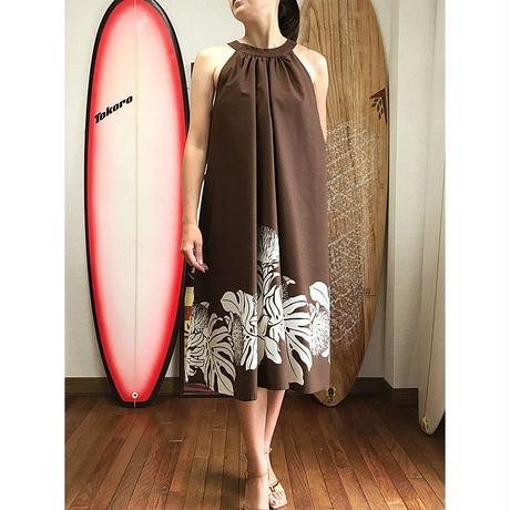 Ginger Dress ブラウン オヒアレフア ジンジャードレス HNLS02564-81210