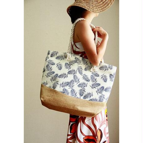 Palm Leaf  Hemp Tote Bag HNLS02806-2570