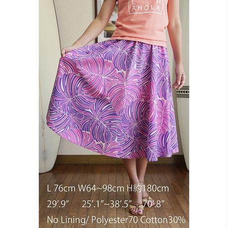 Flare Skirt モンステラ サンセットパープル HNLS02685-53310