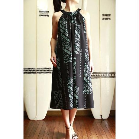 Ginger Dress ブラックタパ柄 ジンジャードレス HNLS02615-54210