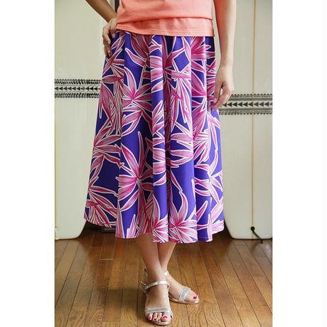 Flare Skirt パームリーフ ピックブルー HNLS02643-81410