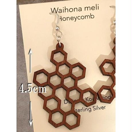 KipukaKai Honey Comb コアウッドピアス HNLS02583-95910