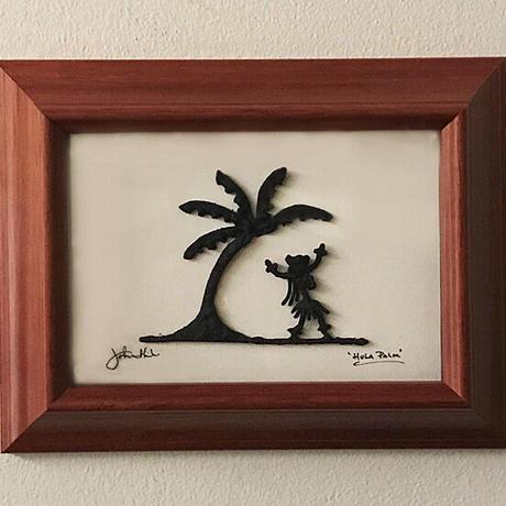 ハワイアンアート Hula Palm コアウッドフレーム HNLS02598-57040