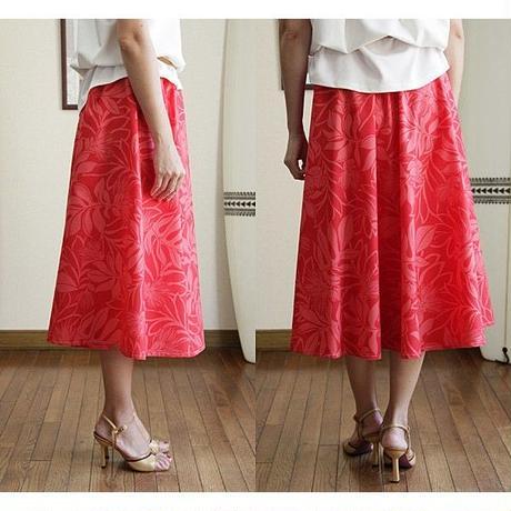 Flare Skirt オヒアレフア レッド HNLS02684-53310