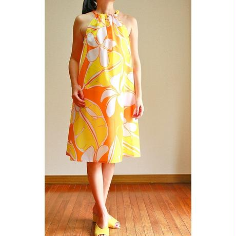 SWING DRESS  SUNSET ORANGE  PLUMERIA ワンピース HNLS02787-47210