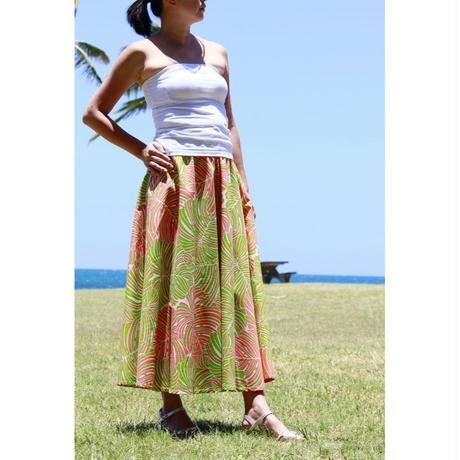 Long Flared Skirt モンステラジャングル ロングフレアースカート HNLS02850-36710