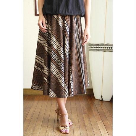 Flare Skirt ブラウンブラック ハワイアンタトゥー HNLS02689-53310