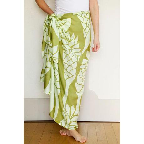 Hawai'ian Pareo   GINGER FLOWER  PERIDOT / LIME CREAM   HNLS03072-1460