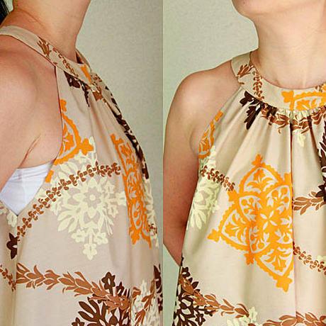 Ginger Dress ハワイアンキルト  ベージュ ジンジャードレス HNLS02965-48210