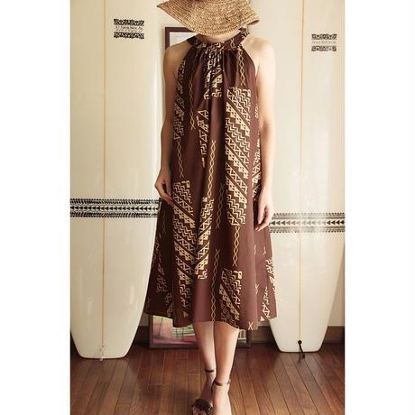 Ginger Dress ブラウン タパ柄 ジンジャードレス HNLS02615-54210