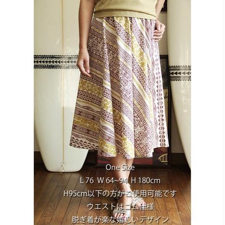 Flare Skirt タパ柄 アイボリー HNLS02635-81410