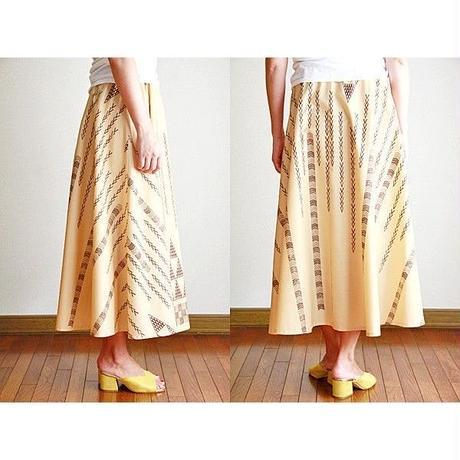 Long Flared Skirt イエロータパ ロングフレアースカート HNLS02886-26710