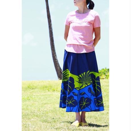 Long Flared Skirt ブルーモンステラ ロングフレアースカート HNLS02848-37220
