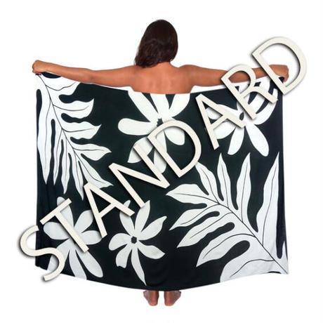 Hawai'ian Pareo    TAHITIAN GARDEN TIARE   BLACK n WHITE  HNLS03095-1460