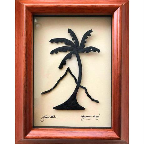 ハワイアンアート Tropical View コアウッドフレーム HNLS0735-57040