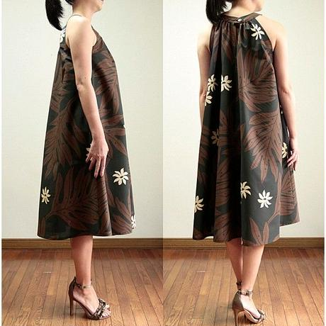 Ginger Dress BLACK/BROWN FENE  ジンジャードレス HNLS02744-55310