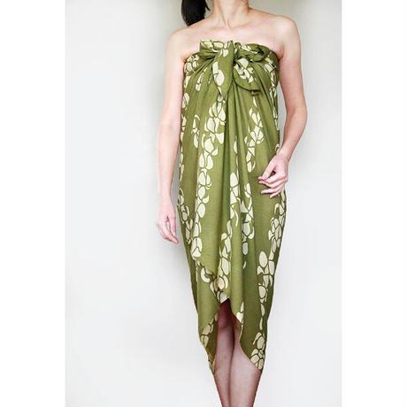 Hawai'ian Pareo    PUAKENIKENI   OLIVE GREEN / YELLOW   HNLS0308-1460