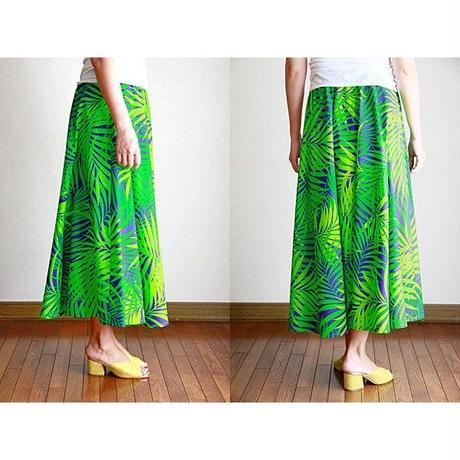 Long Flared Skirt グリーンパンダナス ロングフレアースカート HNLS02881-26710