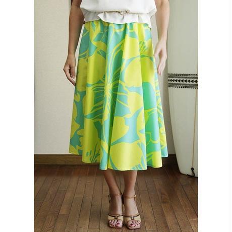 Flare Skirt ハイビスカス レモン HNLS02683-53310