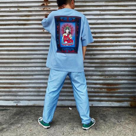 玲瓏菩薩 カラービッグシルエット Tシャツ 9.1ozマグナムウェイト