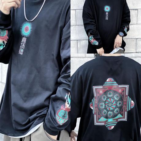 達磨曼荼羅 ビッグシルエットL/S Tシャツ