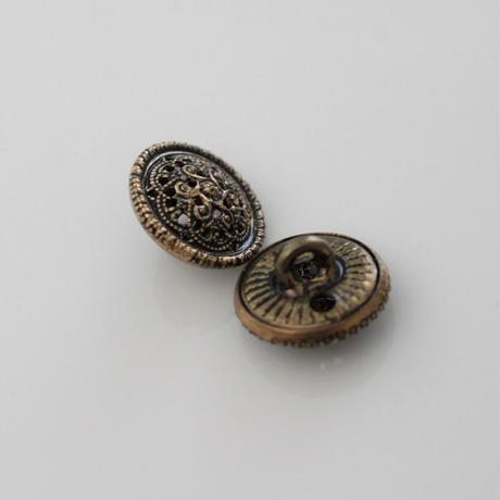 【ボタンセット】透かし彫りメタルボタン2個セット フランスヴィンテージ