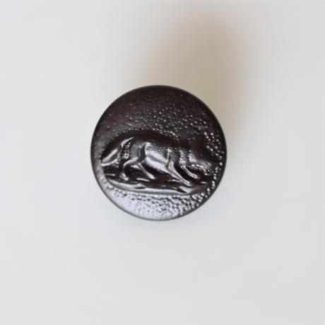 【ハンティングボタン】 キツネのメタルボタン 16㎜ フランスデッドストック364