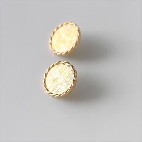 【ボタンセット】france vintage  丸いフラットボタン2個セット