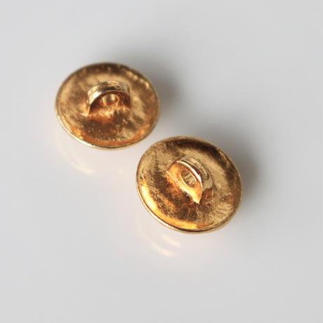 【ボタンセット】france vintage  金縁パールメタルボタン2個セット 354