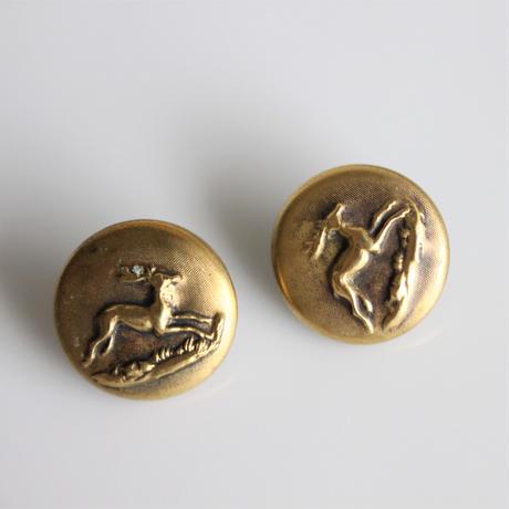 【ハンティングボタン】 fh_12 鹿 15㎜   メタルボタン フランス