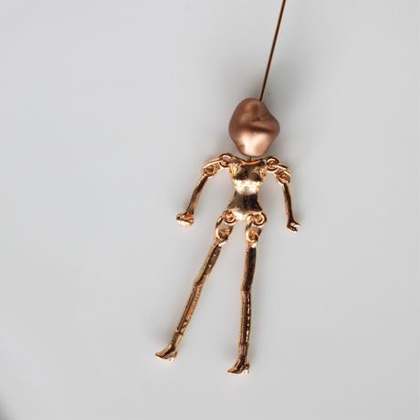 お人形メタルパーツ4㎝(ブロンズ)フランスパーツ 673