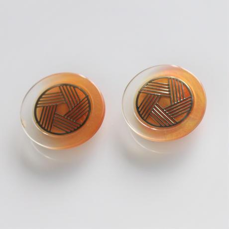 【ボタンセット】france vintage  オレンジグラデのボタン2個セ352ット
