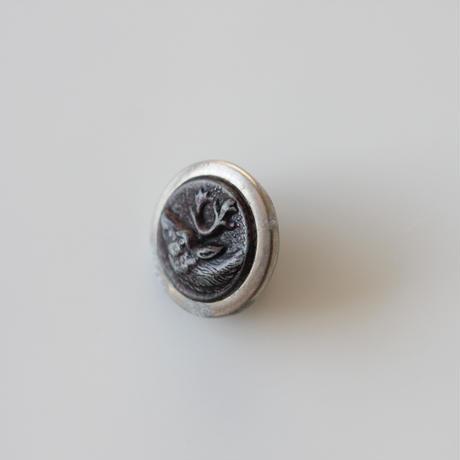 【ハンティングボタン】fh-5  鹿のメタルボタン 16㎜ フランス
