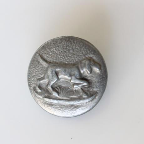 【ハンティングボタン】fh-13 犬のメタルボタン 25㎜ フランス