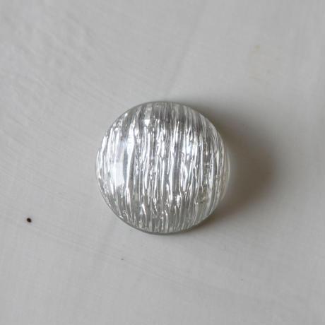 光沢ギャザーラウンドカボション 2㎝(silver) フランス