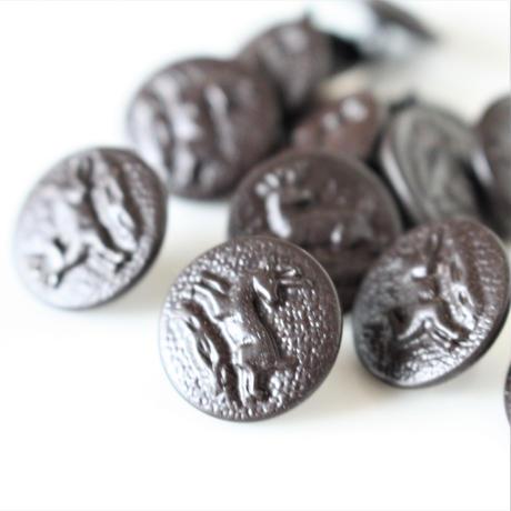 【ハンティングボタン】 鹿のメタルボタン 16㎜ フランスデッドストック364