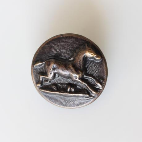 【ハンティングボタン】fh-1  馬のメタルボタン 25㎜ フランス