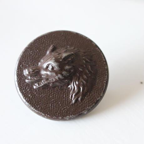 【ハンティングボタン】  きつね25㎜   メタルボタン フランス