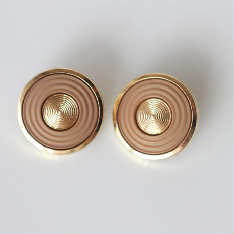 【ボタンセット】france vintage  ベージュゴールドのボタン2個セット