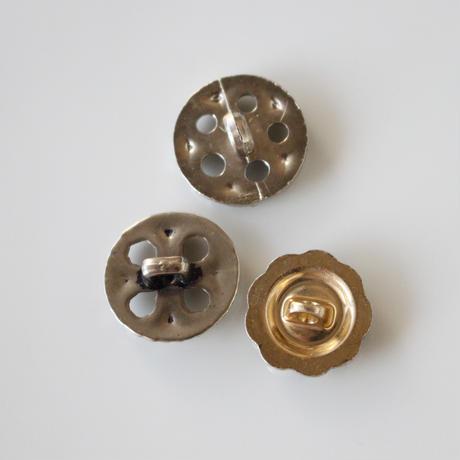 【ボタンセット】france vintage  シルバーボタン3個セット
