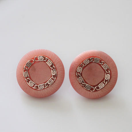 【ボタンセット】france vintage チェーンボタンpink 2個セット 23㎜ 365