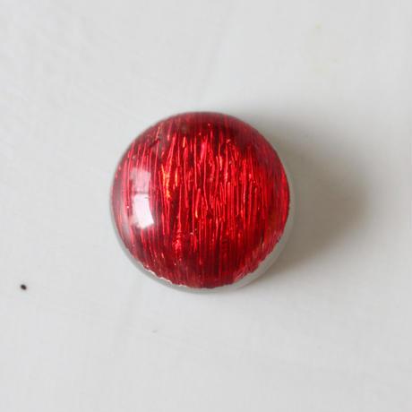 光沢ギャザーラウンドカボション 2㎝(red) フランス