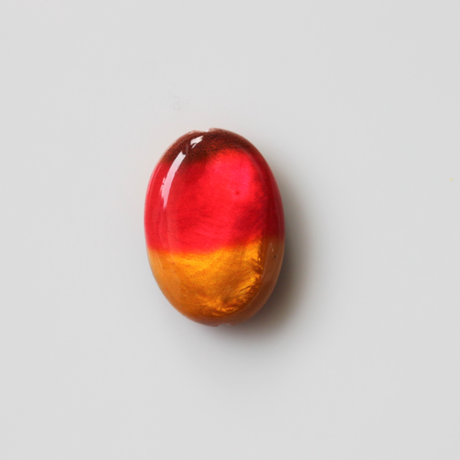 3色の平たいオバールシェルビーズ17㎜ フランス  406