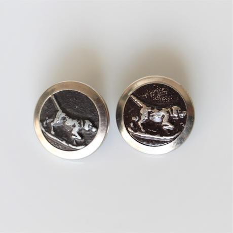 【ハンティングボタン】  犬のメタルボタン 25㎜ フランス