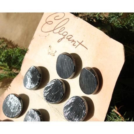 ヴィンテージガラスボタン(BKライン) 一つ穴22㎜ フランスボタン デッドストック